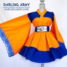 Akatsuki Naruto Cosplay Lolita Kimono Dress by DarlingArmy on DeviantArt Casual Cosplay, Cosplay Dress, Cosplay Outfits, Anime Outfits, Mode Outfits, Fashion Outfits, Kimono Fashion, Lolita Fashion, Mode Kawaii