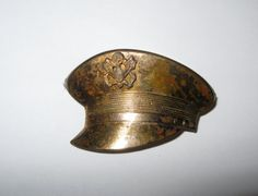 WWII US Army Hat Shaped Sweetheart Brooch/Pin by ThatVintageFlair, $15.00