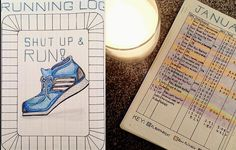 I like this lady's [color coded!] workout log... This may help if I can look back on the month and see all I've done