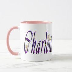 Charlotte, Logo, Name, Pink Combo Coffee Mug