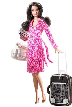 Wish there was a #dvf Barbie when I was 8.