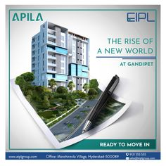 Your Home is Now Ready to Move in. Head Over to Apila Apartments at Gandipet and Relish the Luxury. For More Details: Contact us on : +91-9121555555 Or for any queries, you can also use bot the on the website www.eiplgroup.com . . . #eipl #eiplgroup #apila #gandipet #apartment #realestate #home #property #house #apartments #eiplgroup #apartmentsforsale #2bhkflats #3bhkflats #apartmentliving #flats #luxuryflats #foreverhome #amenities #properti #investment #building #residentialapartments Real Estate Advertising, Real Estate Ads, Ad Design, Layout Design, Portfolio Architect, Office Wall Graphics, Real Estate Banner, Marketing Poster, Real Estate Templates