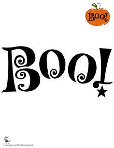 Pumpkin Stencils for Halloween Boo! Pumpkin Stencil – Fantasy Jr.