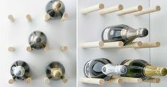 Tee itse helppo mutta sitäkin tyylikkäämpi viinipulloteline Cello-pyörölistasta! Tarvikkeet ja välineet löydät K-Raudasta. Wine Rack, Home Appliances, Storage, Interior, Diy, Craft Ideas, Inspiration, Furniture, Decoration