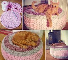 Crochet Pet Ottoman