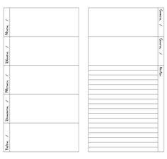 Lorelei Lee's Plan-Bar: Dori Wocheneinlagen - Dori Weekly Inserts - Free Printable Midori Regular Size Traveler's Notebook inserts