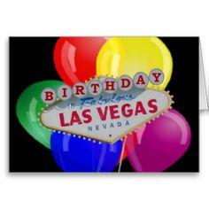 Birthday IN Fabulous Las Vegas Card With Balloons Birthdays