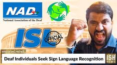 We have released a news video about NAD's advocacy with the government to make ISL an official language.The National Association of the Deaf (NAD) has starte. National Association, Sign Language, Snack Recipes, Signs, Snack Mix Recipes, Appetizer Recipes, Novelty Signs, Signage, Sign Language Art