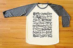 Harry Potter Land, Harry Potter Shirts, Fall Winter Clothes, Baseball Shirts, Harry Potter Clothes, Men Shirts, Harry Potter Merch, Long Sleeve Tees