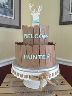 Country baby shower cake buck fence deer love. Pregnancy week 36 third trimester. Baby boy cake.