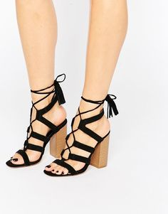 New+Look+Lace+Up+Suede+Heeled+Sandal