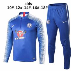 Chelsea 18 19 Blue Kids ( Youth) Tracksuit Slim Fit 2 e540aacc4a205