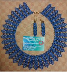 Diseños Sami Bisuteria:   www.bisuteriasam.blogspot.com: Pectoral en Mostacilla Seed Bead Necklace, Seed Bead Bracelets, Beaded Necklace, Beaded Earrings Patterns, Beading Patterns, Beading Projects, Beading Tutorials, Beard Jewelry, Beaded Collar