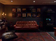 Recording studio's reception area
