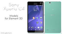 Sony Xperia C4 for Video Copilot's Element 3D. Product Link: http://store.cgduck.pro/element-3d/sony-xperia-c4-e3d.html