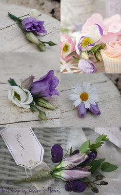 Button Holes ~ Purple Lisianthus Button Holes by Passion for Flowers