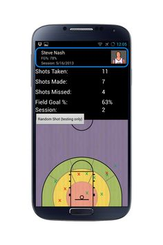 The final part of The Shot Coach system is a free app available on any smartphone or tablet. As the data is then transmitted from The Box to the smartphone or tablet, this app integrates the information into easily-to-read shot statistics and shot location maps. The App also provides feedback to help a shooter improve the shots that were missed, analyzing such statistics as shot arch, elbow positioning and follow through.