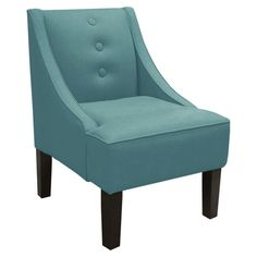 Button-tufted accent chair with pine wood frame. Handmade in the USA.   Product: ChairConstruction Material: Soli...
