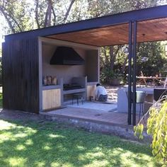 Modern Backyard, Backyard Patio Designs, Outdoor Pergola, Outdoor Decor, House Extension Design, Swimming Pools Backyard, Outdoor Kitchen Design, Pool Houses, Outdoor Living