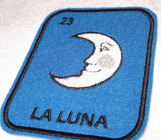 La Luna Loteria Iron on Patch Moon by lizmiera on Etsy