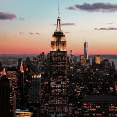 City in Gold ~ Manhattan, New York