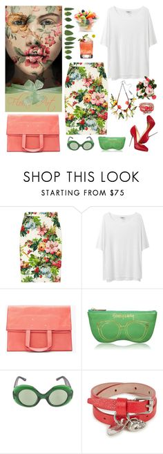 """Floral Art / 8.2013"" by jelena-m-s ❤ liked on Polyvore featuring Dolce&Gabbana, Acne Studios, Maison Margiela, Christian Louboutin, Marni, Guide London, Rebecca Minkoff, The Row and Alexander McQueen"