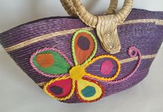 Mexican flower bag Ethnic handbag Morral Woven by MXArtsCrafts