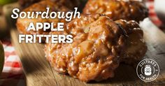These sweet sourdough apple fritters are spiced with cinnamon and studded generously with fresh apples. Serve them with yogurt, kefir, or sour cream, for a real breakfast treat! Dough Starter Recipe, Sourdough Starter Discard Recipe, Bread Starter, Sourdough Recipes, Starter Recipes, Sourdough Bread, Sourdough Donut Recipe, Amish Bread, Apple Fritter Recipes