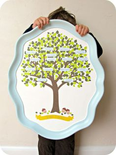 How cute is this idea: Mod Podge a copy of your family tree onto a serving tray for a gift that mom will cherish. Get the tutorial at Homemade by Jill.