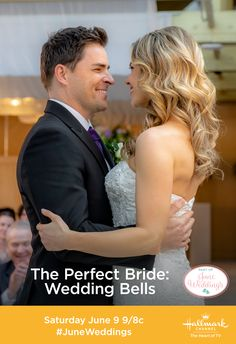 Pin this image and enter our June Weddings Sweeps for a chance to win a $500 Visa gift card! Come to Hallmark Channel every Saturday night for a new June Weddings movie! #JuneWeddings #HallmarkChannel #ThePerfectBride
