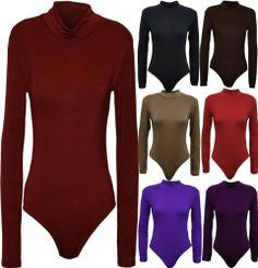 c466b62dab003 Womens Plus Size Turtle Neck Bodysuits Long Sleeve Polo Neck Leotard Tops  at Amazon Women s Clothing store  Blouses
