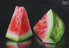 Watermelon Painting by Christine Karron - Watermelon Fine Art Prints and Posters for Sale