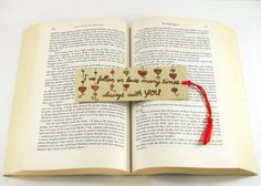 Wooden bookmark  Hand Pyrography  Love Quote by bkinspired on Etsy, $7.00