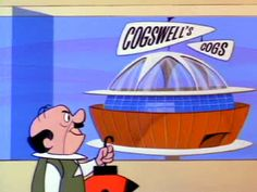 Evil Cogswell Cogs HQ always trying to steal Mr Spaceleys ideas and employees. The Jetsons, Everything And Nothing, Cogs, Cartoon Characters, Fictional Characters, Vintage Cartoon, Burning Man, Burns, Childhood