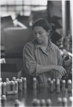 Bingo Assembly Line Worker (by Louis Stettner) 1976 Louis Stettner, Line Worker, Day Work, Photomontage, Black And White Photography, Factory Worker, Culture, Portrait, American