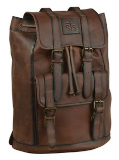 STS Ranchwear FOREMAN Leather Backpack Brown – The Western Company