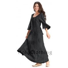Sonya Bohemian Embroidered Bustier Peasant Corset Dress Gown - Dresses