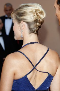 Cool updo on Reese