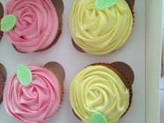 Honey's rose swirl cupcakes