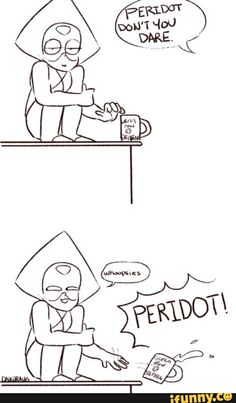 Steven Universe Peridot is practically a cat Steven Universe Theories, Steven Universe Funny, Universe Art, Steven Universe Peridot, Lapidot, Yellow Diamonds, Pink Sapphire, Anime, Geek Stuff