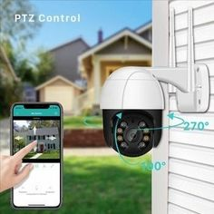 1080P PTZ Wifi IP Camera Outdoor 4X Digital Zoom AI Human Detect Wireless Camera H.265 P2P Audio 2MP 3MP Security CCTV Camera Smartphone, Wireless Ip Camera, Nocturne, Wi Fi, Ptz Camera, Outdoor Camera, Sport Earbuds, Dome Camera, Apps