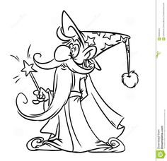 cartoon wizard drawing - Google Search