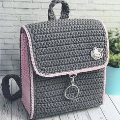 I Found These Elegant Crochet Bags . I Crochetbag - Crochet Tutorial - Best Knitting Crochet Backpack Pattern, Crochet Tote, Crochet Handbags, Crochet Purses, Crochet Crafts, Crochet Yarn, Crochet Wallet, Crotchet Bags, Knitted Bags
