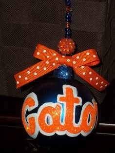 Hand Painted University of Florida Gators Christmas by mom2aubs, $8.00  also like my page facebook.com/katieskreationz for updates on new items that I am always posting :)