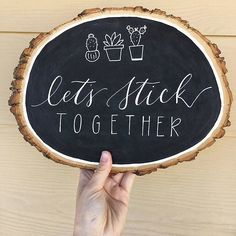 You guys are amazing let's stick togetherTag your succulent & pun loving friends ? Succulent Puns, Succulents, Cactus Pun, Cactus Craft, Sushi Puns, Wood Burning Tips, Pun Card, Sweet Magnolia, Diy Chalkboard