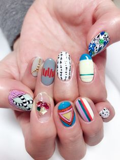 39 Amazing Rainbow Nails Designs Ideas Wear In This Summer Nail Design Stiletto, Nail Design Glitter, Classy Nails, Stylish Nails, Get Nails, Hair And Nails, Manicure, Pastel Nails, Colorful Nails