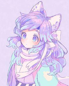 Cute Anime Chibi, Anime Girl Cute, Kawaii Anime Girl, Anime Art Girl, Arte Do Kawaii, Kawaii Art, Cute Kawaii Drawings, Anime Girl Drawings, Cute Art Styles