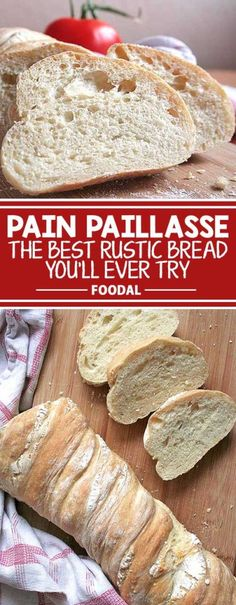 Looking for a new take on an artisan bread? Try this super moist and delicious Pain Paillasse recipe based on the breads sold by exclusive European bakeries. It is so easy to make, and the long fermentation time is an extra special step to develop the bes Easy Keto Bread Recipe, Best Keto Bread, Lowest Carb Bread Recipe, Easy Bread Recipes, Low Carb Bread, Whole Food Recipes, Healthy Recipes, Quick Bread, Baking Recipes