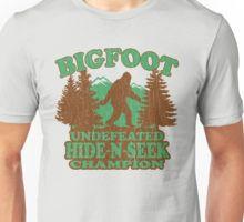 Bigfoot Hide N Seek Champion (vintage distressed) Unisex T-Shirt