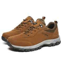 d30c7b50e Large Size Men Breathable Wear Resistance Outsole Outdoor Hiking Comfy  Athletic Shoes Formal Shoes